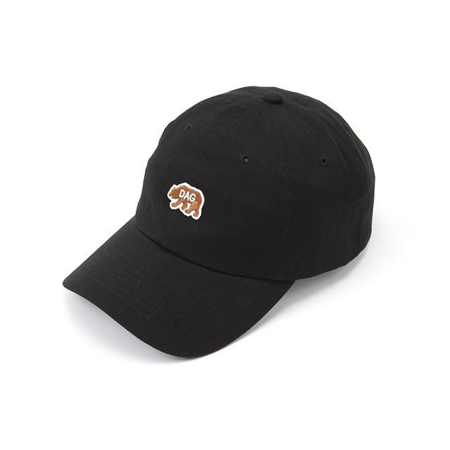 "【DARGO】""D.A.G"" Bear Dads Cap (BLACK)"