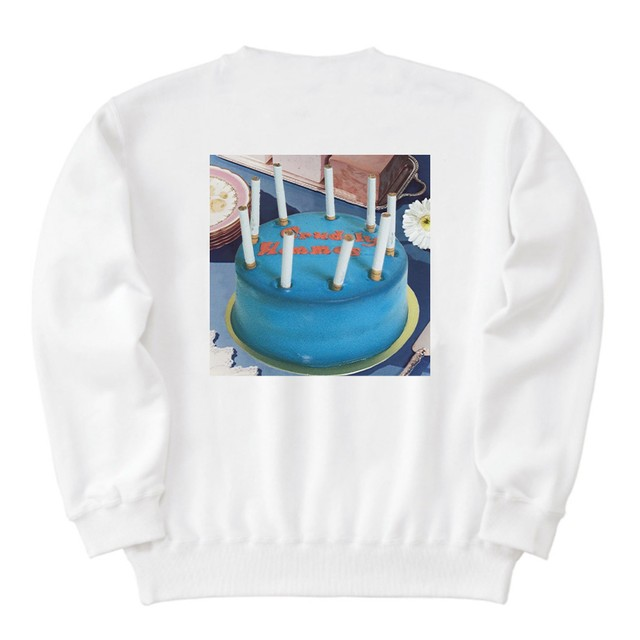 【Crudely Hommes】Party with Cake Heavy Weight Sweat Tops