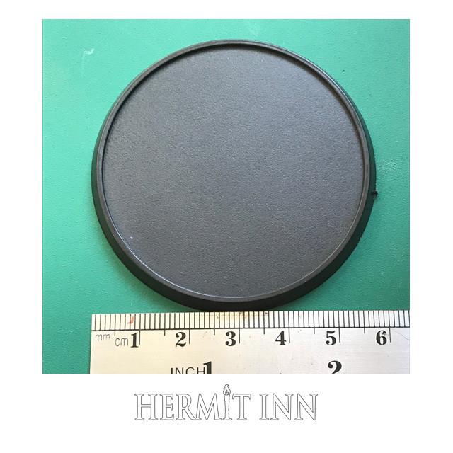 60ミリ プラ製 フチあり丸ベース(2枚) - メイン画像