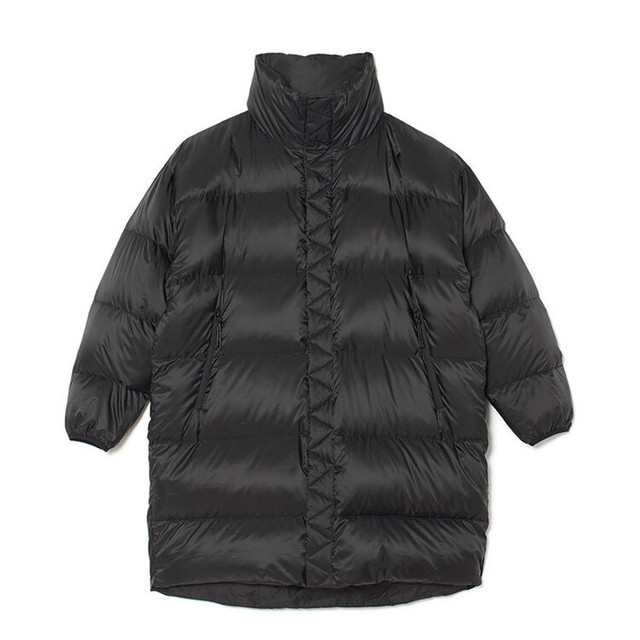 REVERSIBLE DOWN COAT - BLACK