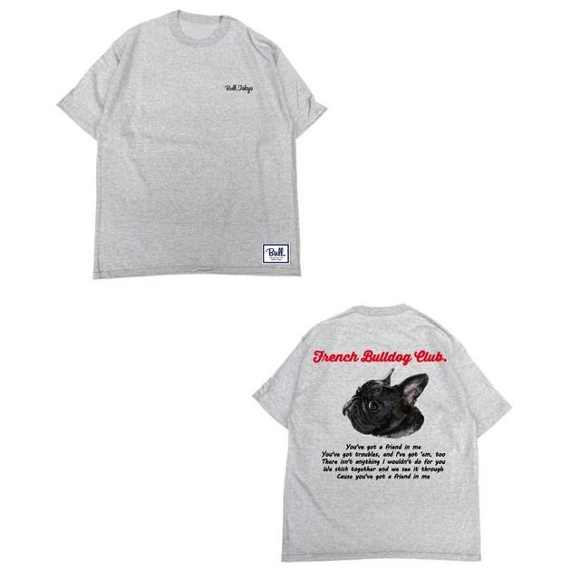 【販売予告 8/7(水)20:00~8/12(月)23:59】限定受注生産 Bull.Tokyo オリジナル Tシャツ French Bulldog Club ブリンドル