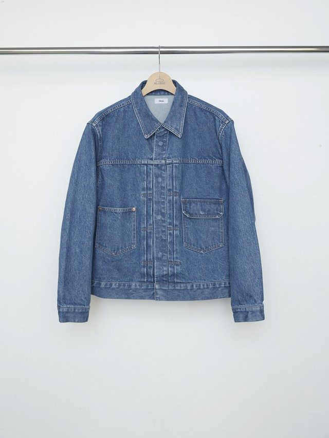 Allege Bleaching Denim Blouson Light Blue AL21S-BL02B