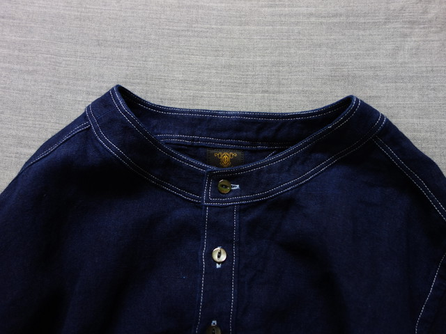 antiqued german linen shirt Ⅱ / indigo