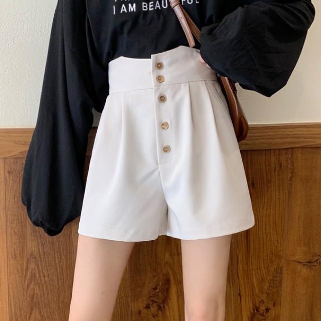 【ボトムス】超人気ファッションルーズハイウエスト細見せショートパンツ27553545