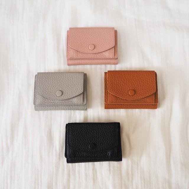 Mini Wallet《PNK/GRY/BRN/BLK》19380674 S:PNK1/GRY1/BRN2/BLK2