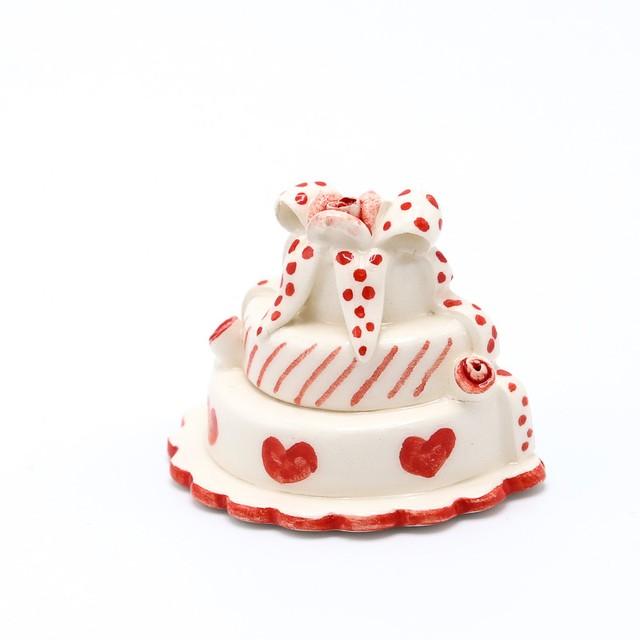 イタリア セラミック マグネット 手描き手焼き ケーキ