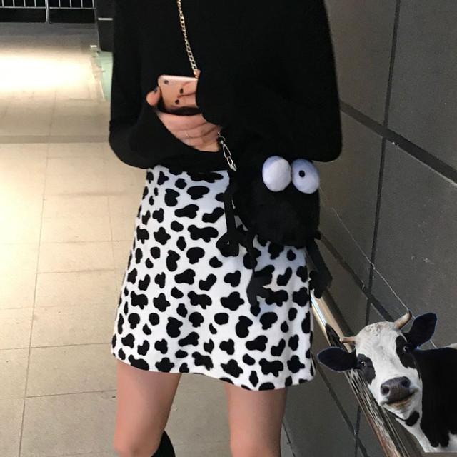 ミルク柄ミニスカート