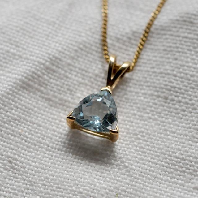 9K Aquamarine pendant
