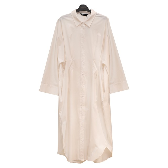 KINDER SALMON/キンダーサルモン/COCOON SHIRT DRESSシャツワンピース【21KS0DR03BP】