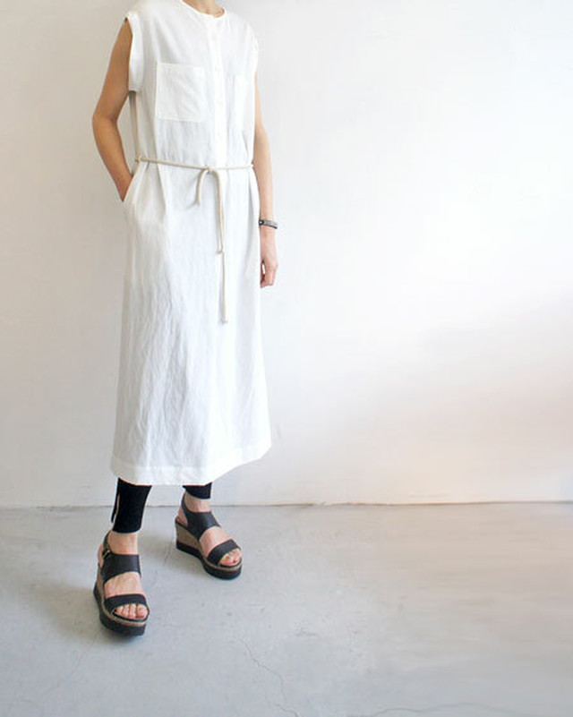 2WAY LINEN ONE-PIECE / SALT + JAPAN