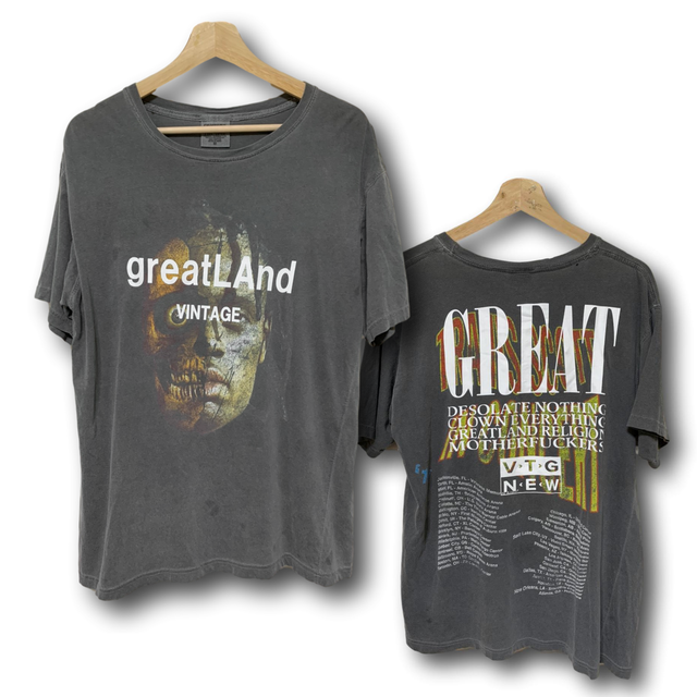 greatLAnd VINTAGE TRAVIS SCOTT TEE BLACK MEDIUM