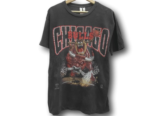 1994 TAZ MANIAN DEVIL CHICAGO BULLS LOONEY TUNES TEE BLACK MEDIUM