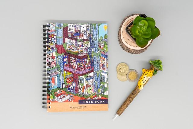 【B6リングノート】SHIBA APARTMENT ※厚手でなめらかな上質紙60枚※