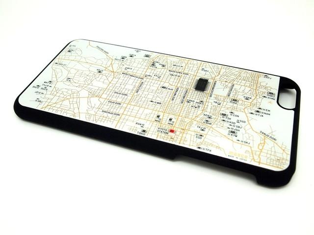 京都回路地図 iPhone6 Plusケース 白【LEDは光りません】【東京回路線図A5クリアファイルをプレゼント】