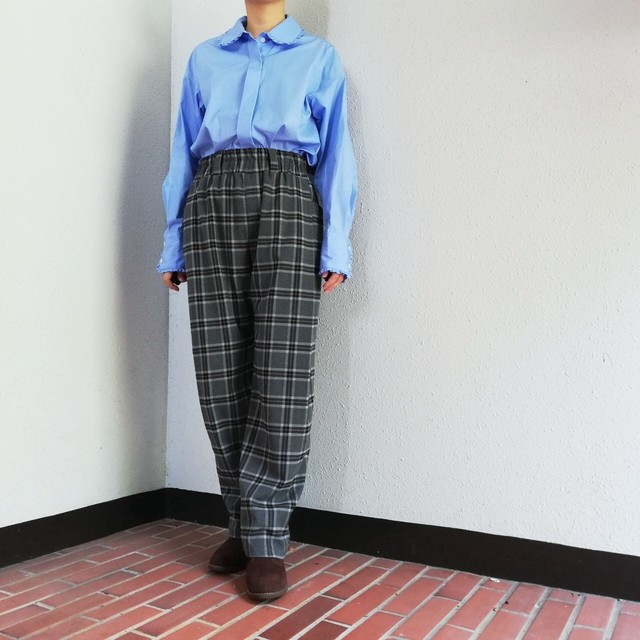 SUPER THANKS(TUCK WIDE PANTS)