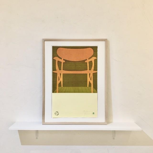 山本剛史  YAMAMOTO Takeshi「CHAIR 2006」etching with frame