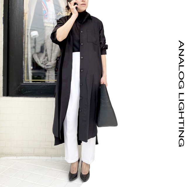 Coat Dress/BLACK