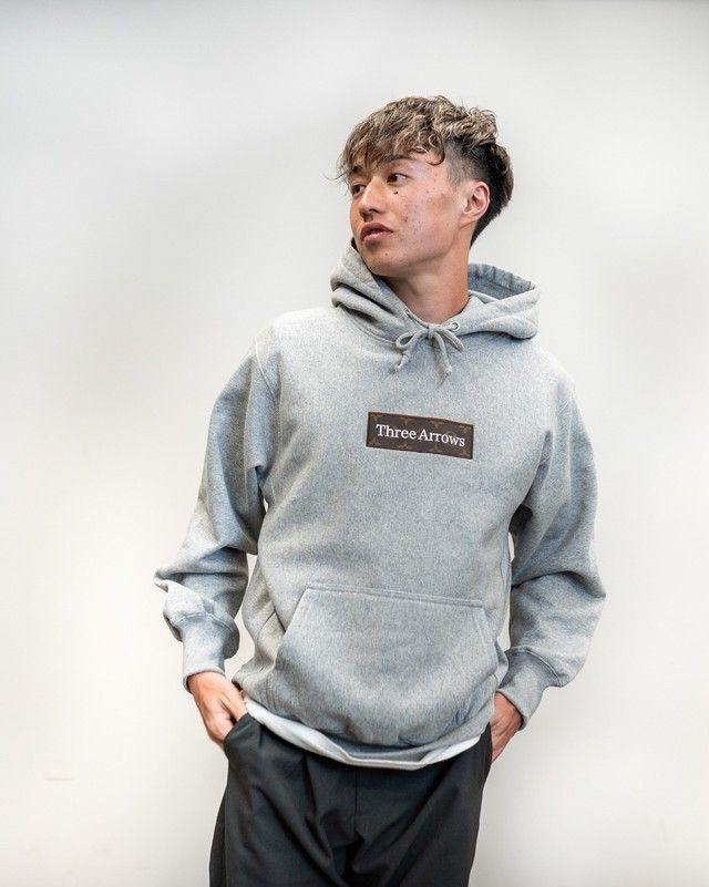 【Expensive】《WEB限定販売》ThreeArrows BOX LOGO Hoodie (MCM)