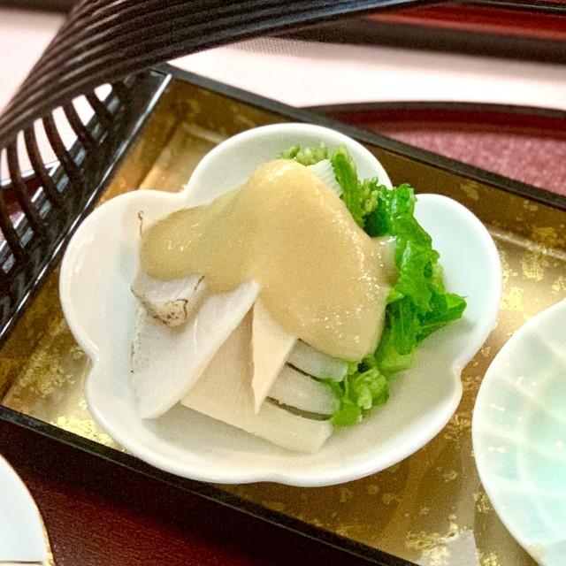 菜の花と平貝の酢味噌和え