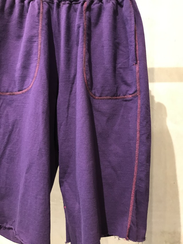 pre-fix lightweight sweat shorts garment dyed - dark berry
