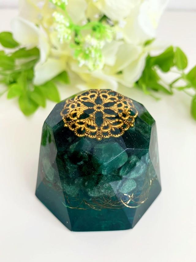 【アベンチュリン】ダイヤモンド型オルゴナイト・141