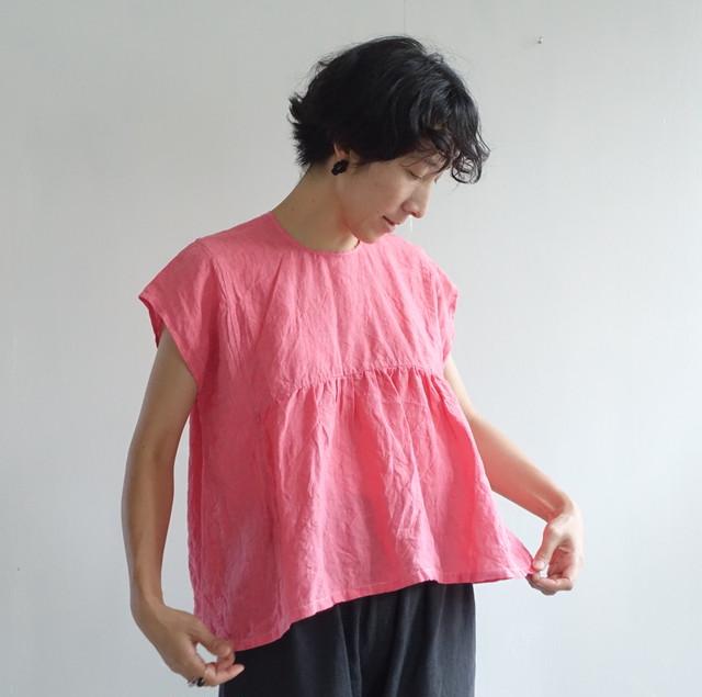 夏に向かうシャツ ピンク / 市川りえ