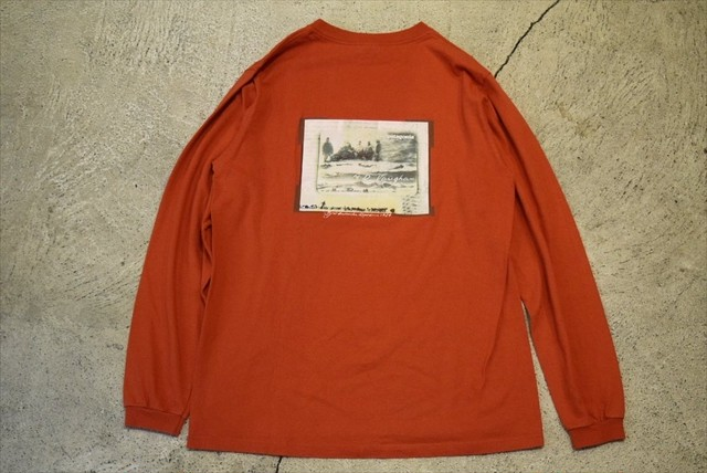 USED patagonia L/S T-shirt 90s made in USA T0374