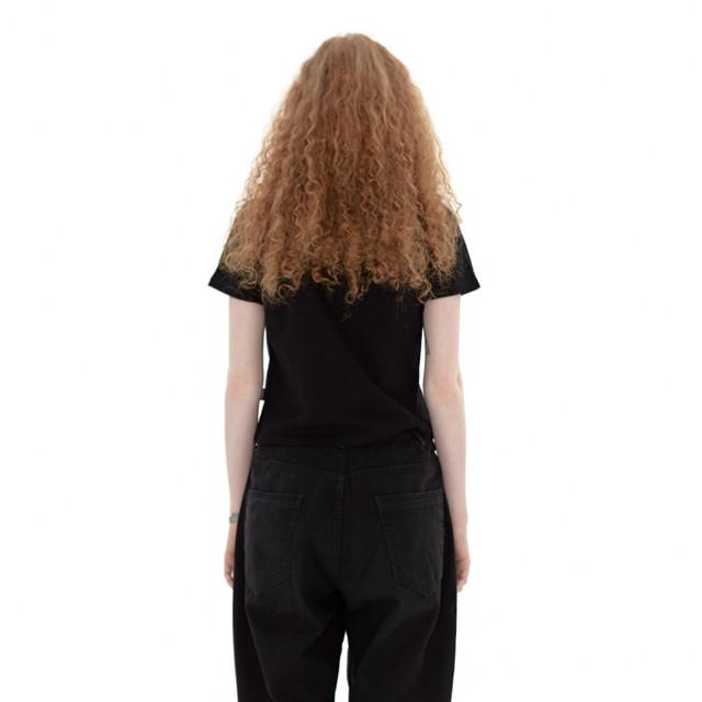 「STD1」クロップドTシャツ(ブラック)