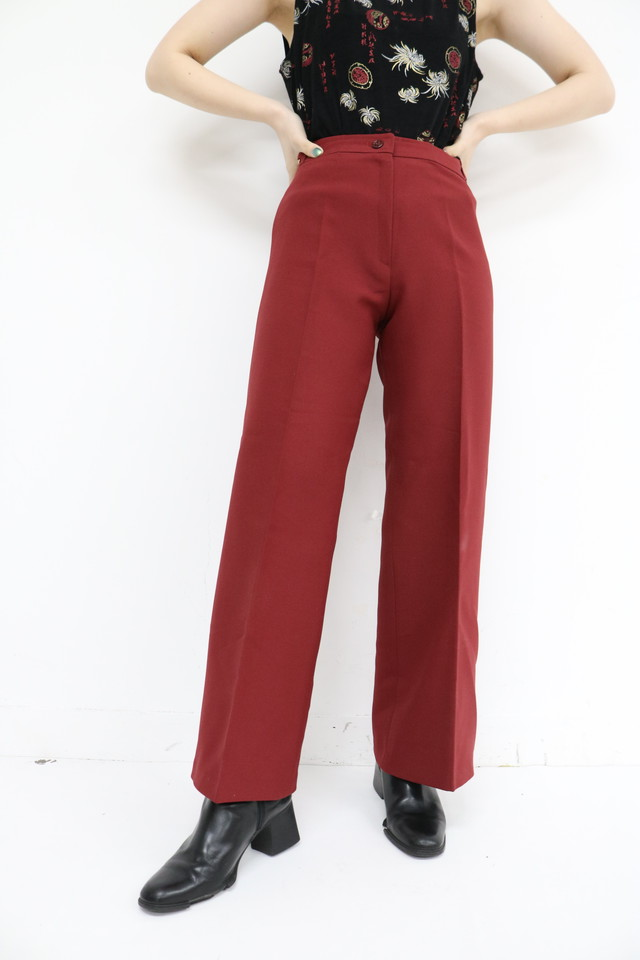 wine red straight pants / 4SSPT10-01