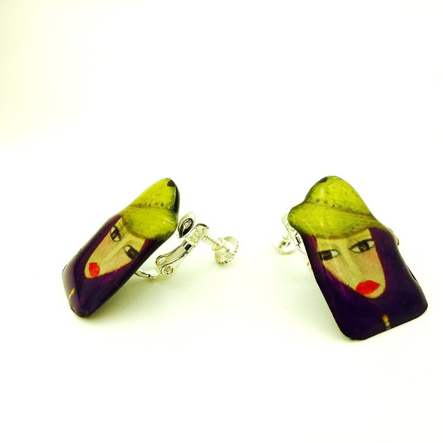 Special request: yellow hat girl earring