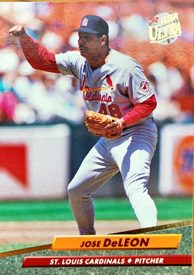 MLBカード 92FLEER Jose Deleon #565 CARDINALS