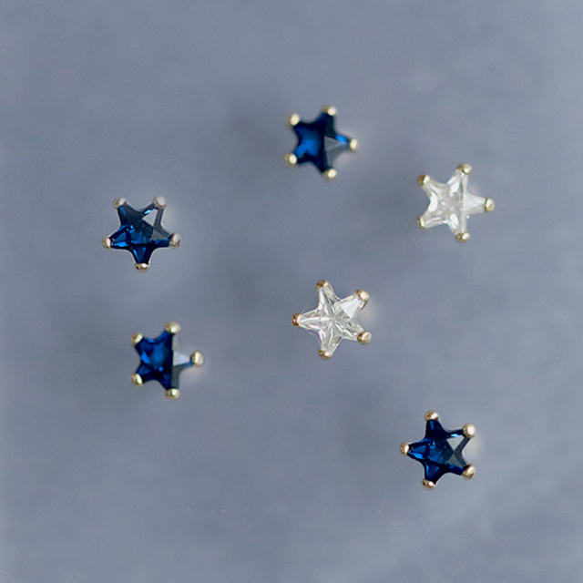star pierce blue/white p030