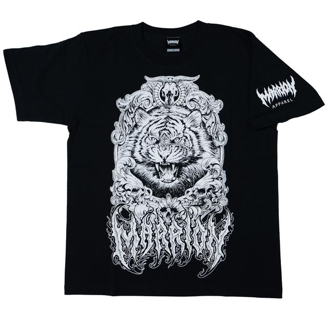 Tiger T-shirts (Black×white)