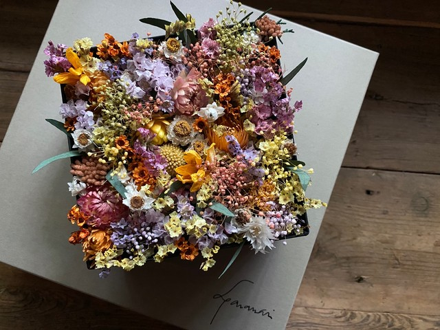 preserved/dried flower box