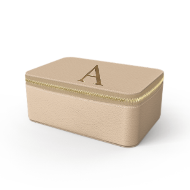 Box  Premium Smooth Leather Case (Nude)
