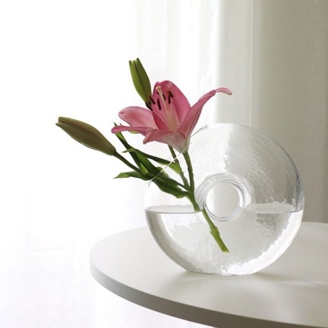 クリアドーナッツ花瓶 R1013