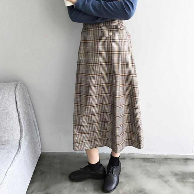 【予約】チェック柄フレアスカート NW-20-26