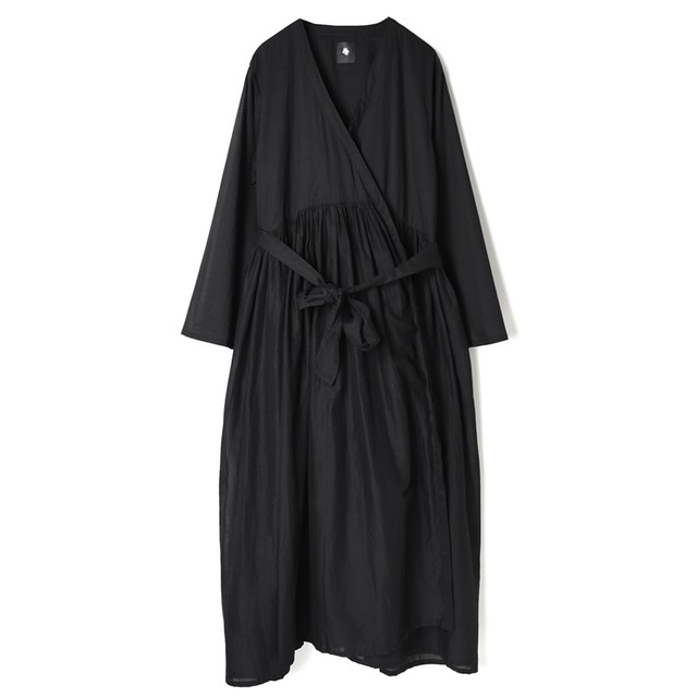 Maison de soil/メゾンドソイル80'S ORGANIC VOILE PLAIN RAJASTHAN GATHERED WRAP DRESSギャザーカシュクールワンピース「NMDS21205」