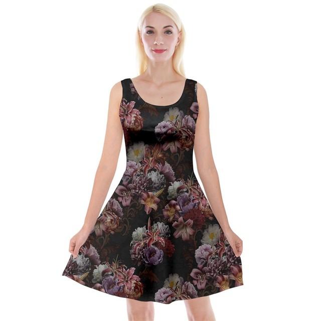 芍薬牡丹百合 ベージュ ベルテッドシャツドレス