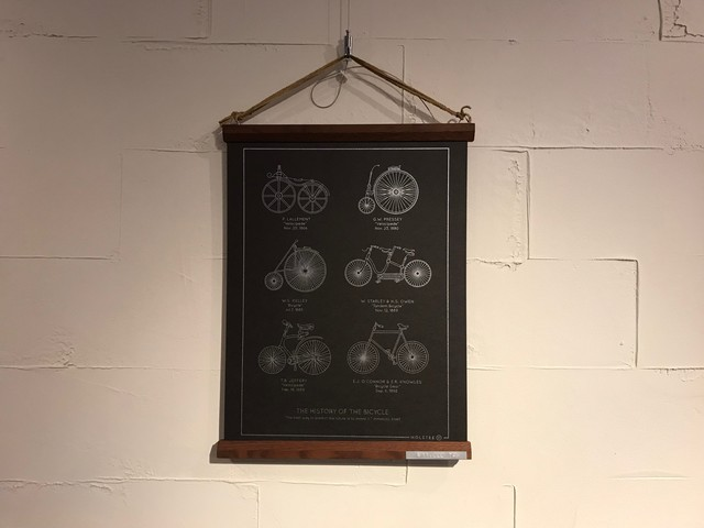 History of the Bicycle ポスター // Holstee