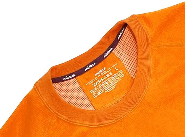 ミストラル ユニセックス【HP-DRY(ハイドロフォビックドライ)半袖Tシャツ - エムドット サンディー -】ORANGE