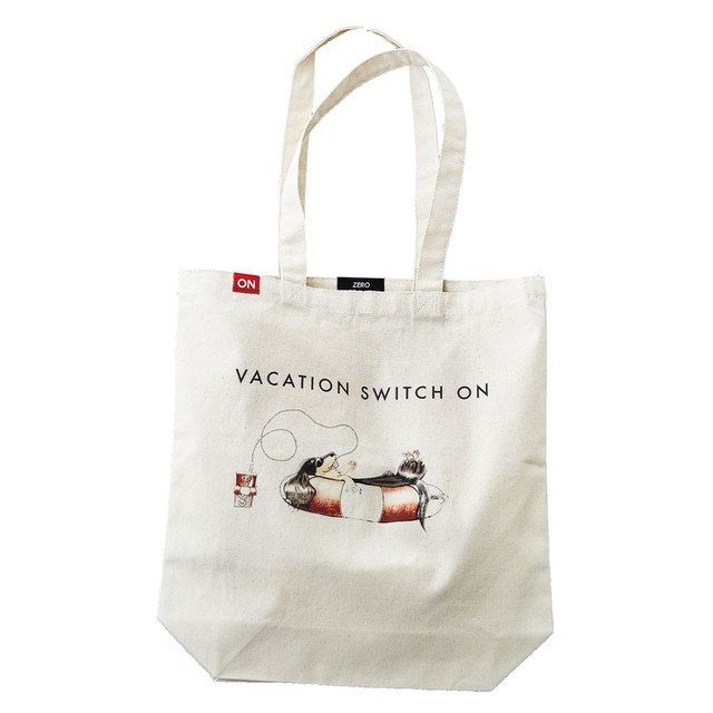 WAVE ON VACATION TOTE BAG [CREAM]