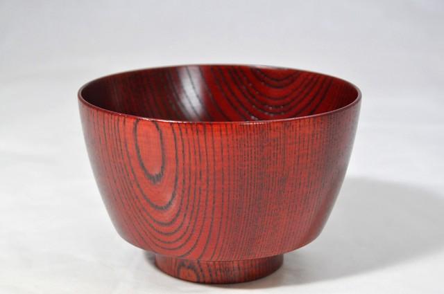 SO-0470 欅3.7胴張汁椀 赤摺