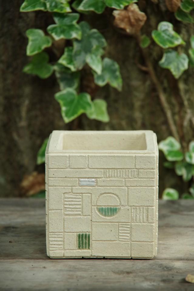 cube pot (staind glass series)①【佐野 有子】