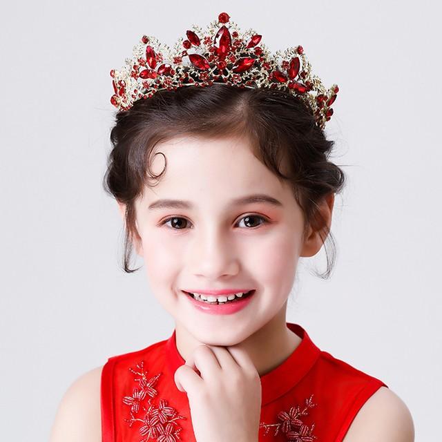 子供アクセサリー 子どもアクセサリー ヘアーアクセサリー 髪飾り ヘッドドレス キッズ 結婚式 ウェディング 入学式 入園式 発表会 入園式 卒園式 七五三 プレゼント アクセサリー レッド 赤い 可愛い 王冠