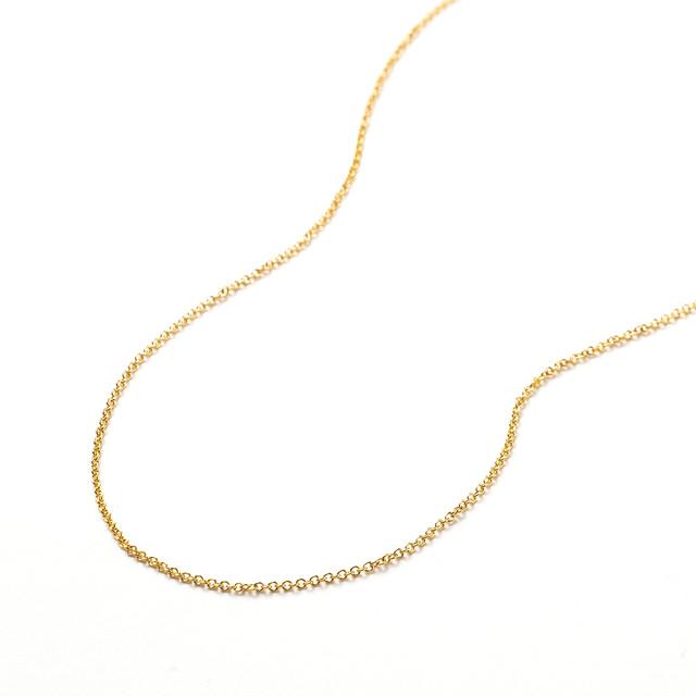 [パーツ]14KGFネックレスチェーン40cm