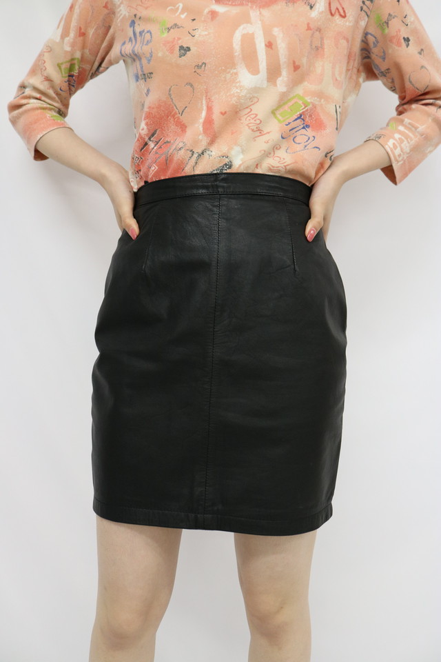 leather tight skirt / 5SSSK09-10