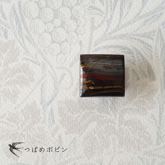 天然石の帯留 ◎アイアンタイガー/A