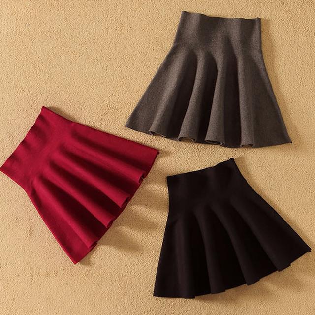 シンプルなニットスカート【FS1725】