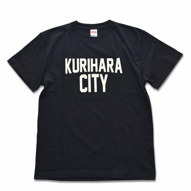 KURIHARA CITY 5.6oz ハイクオリティーTシャツ(ブラック)